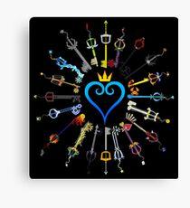 Kingdom Hearts Schlüsselschwerter Leinwanddruck