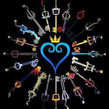 Kingdom Hearts Keyblades by spyrome876