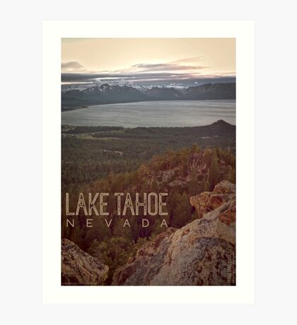 View of Lake Tahoe from Castle Rock Art Print