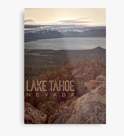 View of Lake Tahoe from Castle Rock Metal Print
