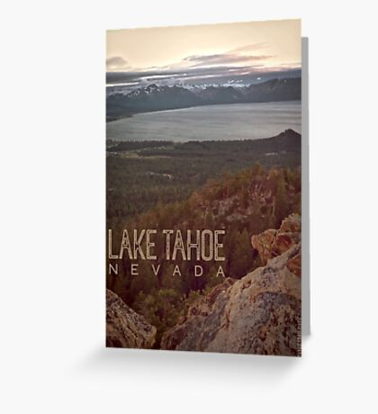 View of Lake Tahoe from Castle Rock Greeting Card