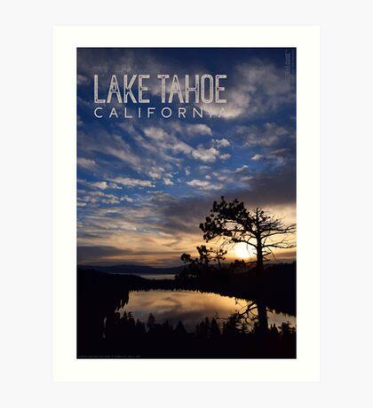 Sunrise at Cascade Lake and Lake Tahoe Art Print