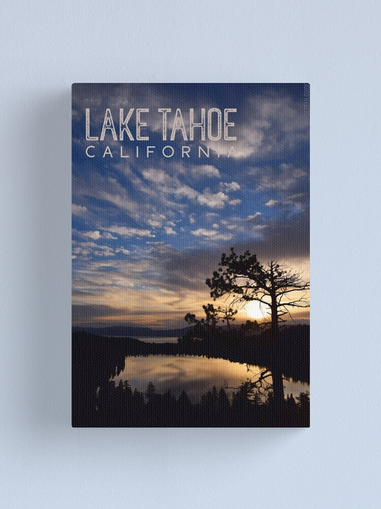 Alternate view of Sunrise at Cascade Lake and Lake Tahoe Canvas Print