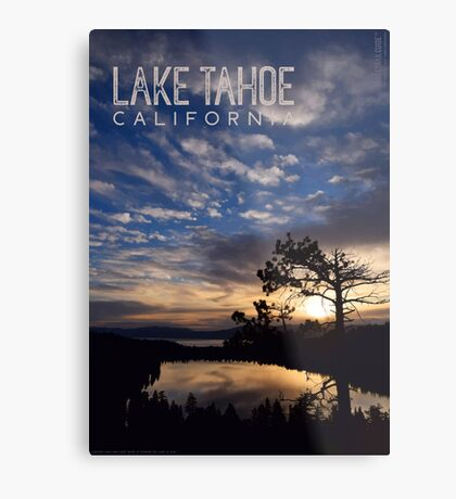 Sunrise at Cascade Lake and Lake Tahoe Metal Print
