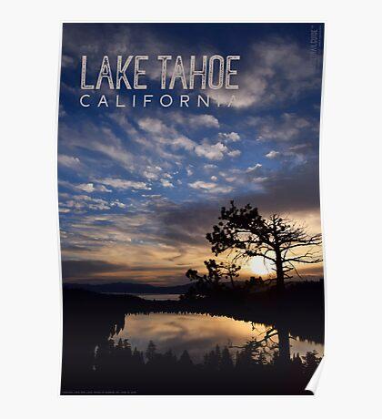 Sunrise at Cascade Lake and Lake Tahoe Poster