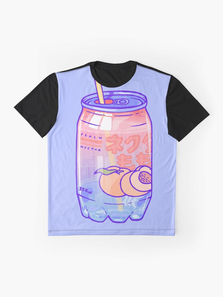 Alternate view of Peach Bubbles Graphic T-Shirt