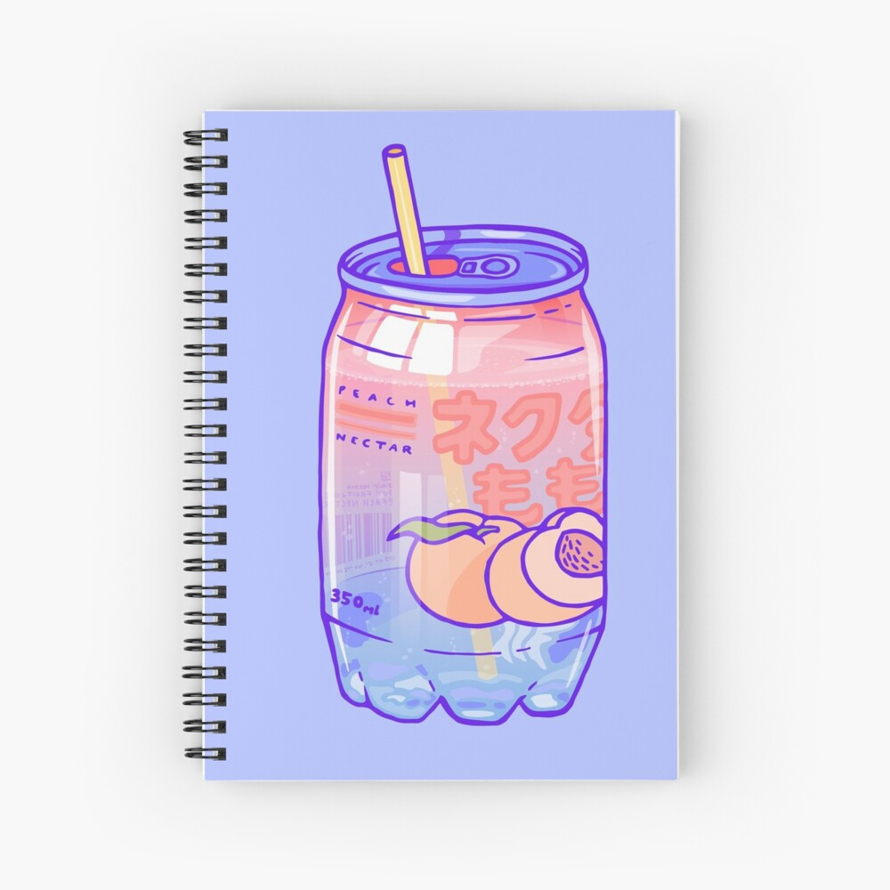 Peach Bubbles Spiral Notebook