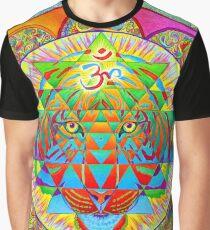 Inner Strength Psychedelic Tiger Sri Yantra Mandala Graphic T-Shirt