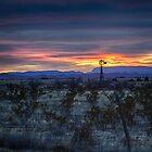 Texas Desert Sunset by Capt. Charles McKelroy