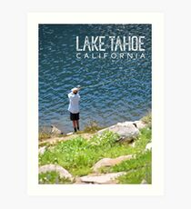 Fishing at Lake Tahoe Art Print