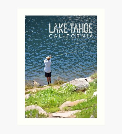 Fishing at Lake Tahoe Art Print