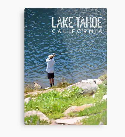 Fishing at Lake Tahoe Metal Print