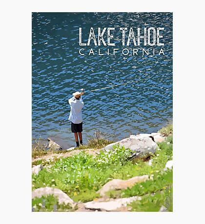 Fishing at Lake Tahoe Photographic Print
