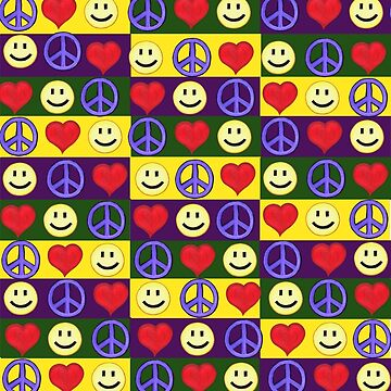 Peace Love Happiness Decor by realartisbetter