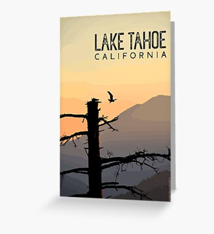 Osprey Takes Flight at Sunrise (Lake Tahoe, CA) Greeting Card
