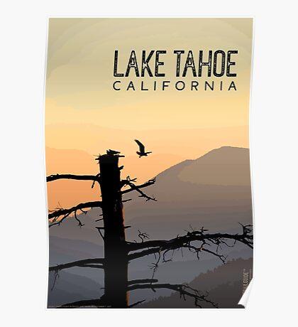 Osprey Takes Flight at Sunrise (Lake Tahoe, CA) Poster