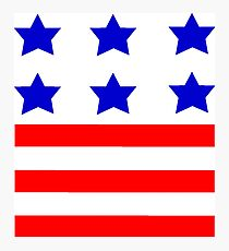 Stars and Stripes American Flag Photographic Print