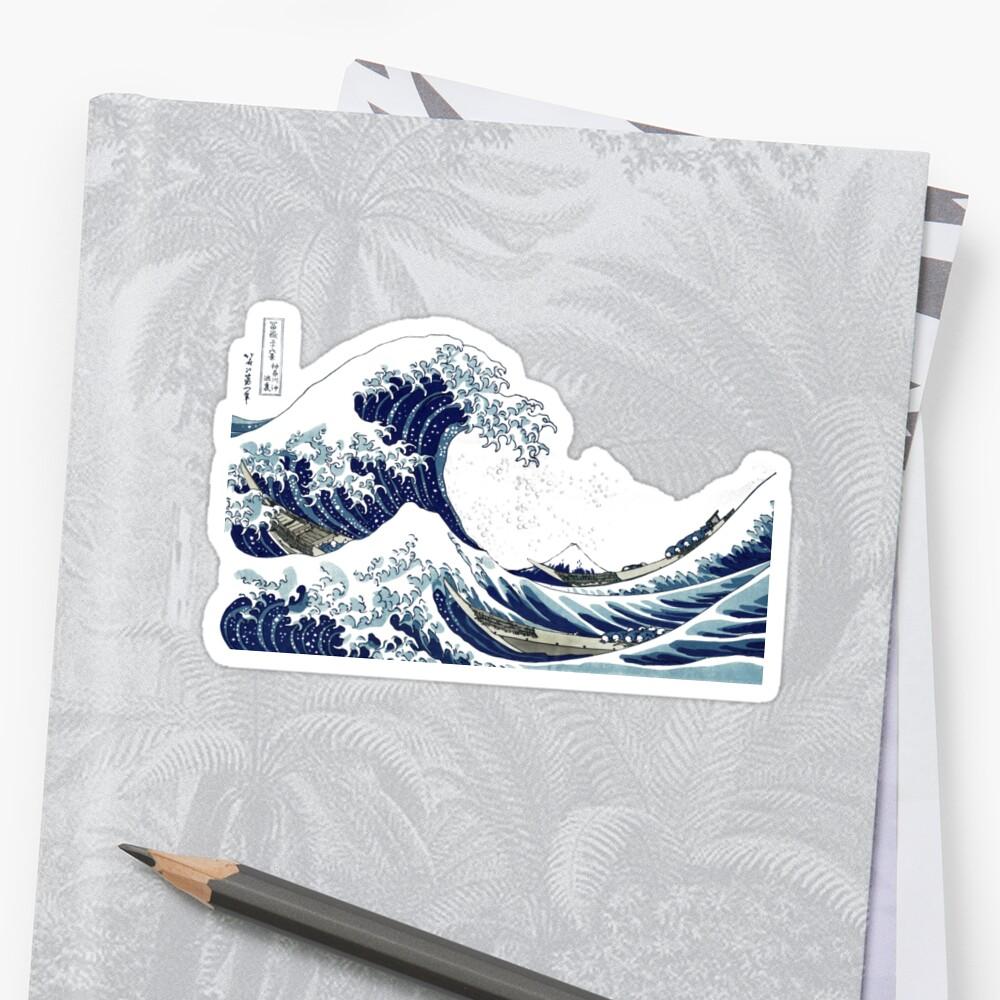 Great Wave+Seafoam, Hokusai 葛飾北斎の神奈川沖浪 by PixDezines