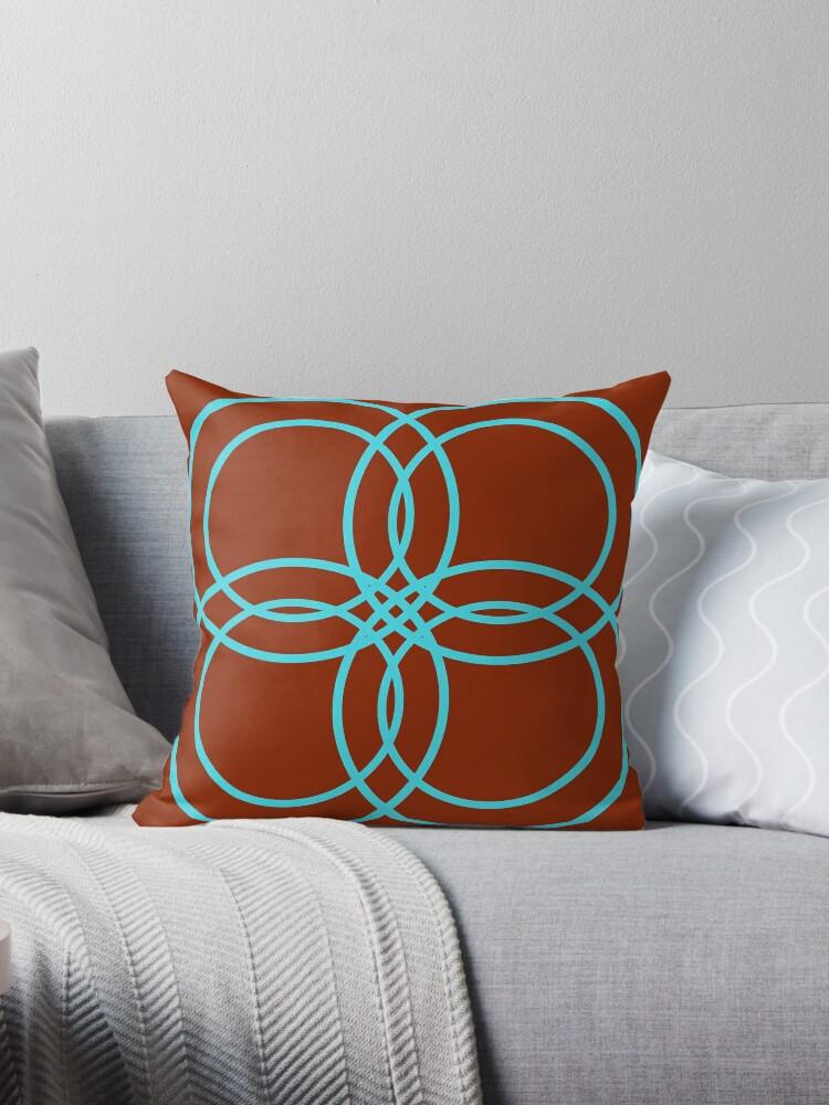 Brown and Blue Pattern by Sara Gomes da Silva