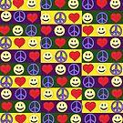 Peace Love Happiness Decor by Scott Clendaniel