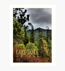 Spooner Summit (Lake Tahoe, Nevada) Art Print