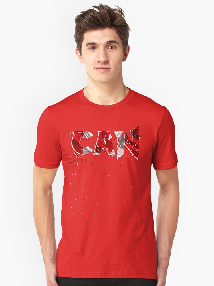 Flag  initials Canada, Shirts  Unisex T-Shirt Front