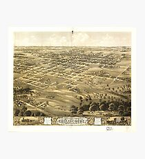 Bird's Eye View of Chillicothe, Missouri (1869) Photographic Print
