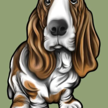 Basset Dog Painting  by Sookiesooker