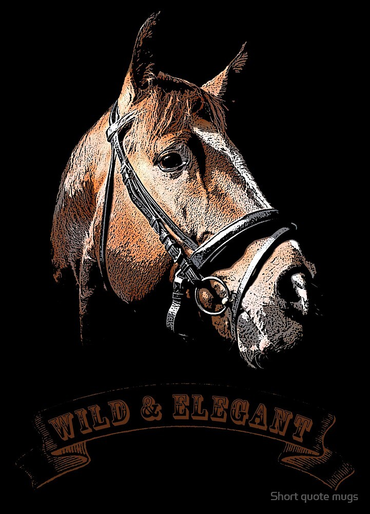 Wild & elegant by Short quote mugs