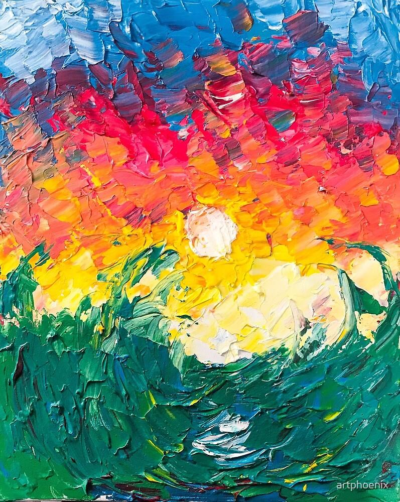 Ocean Sunset by artphoenix