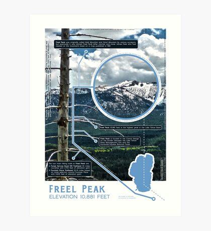 Freel Peak Infographic Art Print