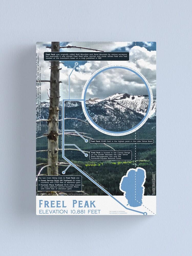 Alternate view of Freel Peak Infographic Canvas Print