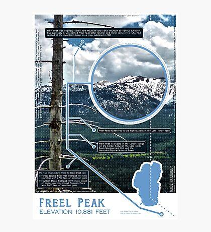 Freel Peak Infographic Photographic Print