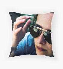 the light you emit is just too strong Throw Pillow