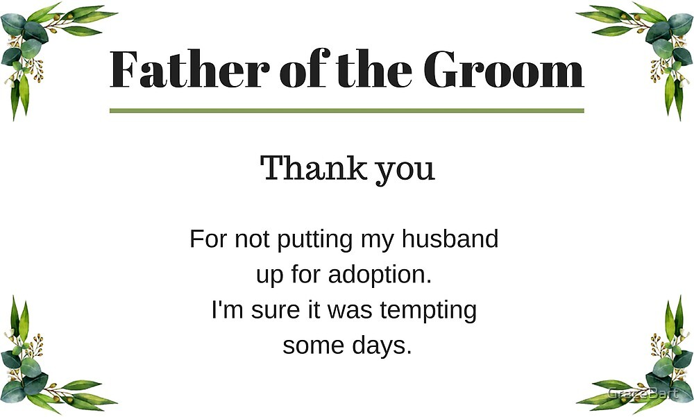 Father of the Groom by GraceBart