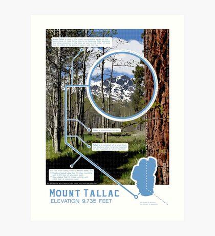 Mount Tallac Infographic Art Print