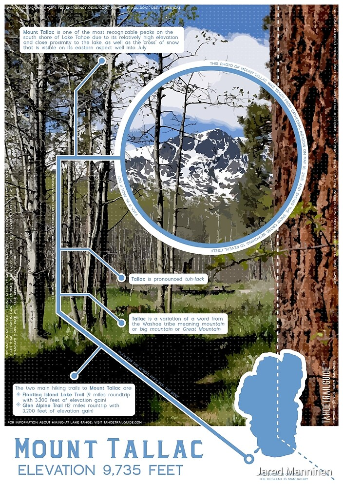 Mount Tallac Infographic by Jared Manninen