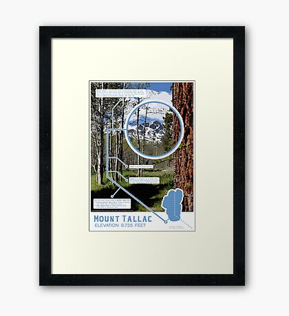 Mount Tallac Infographic Framed Print