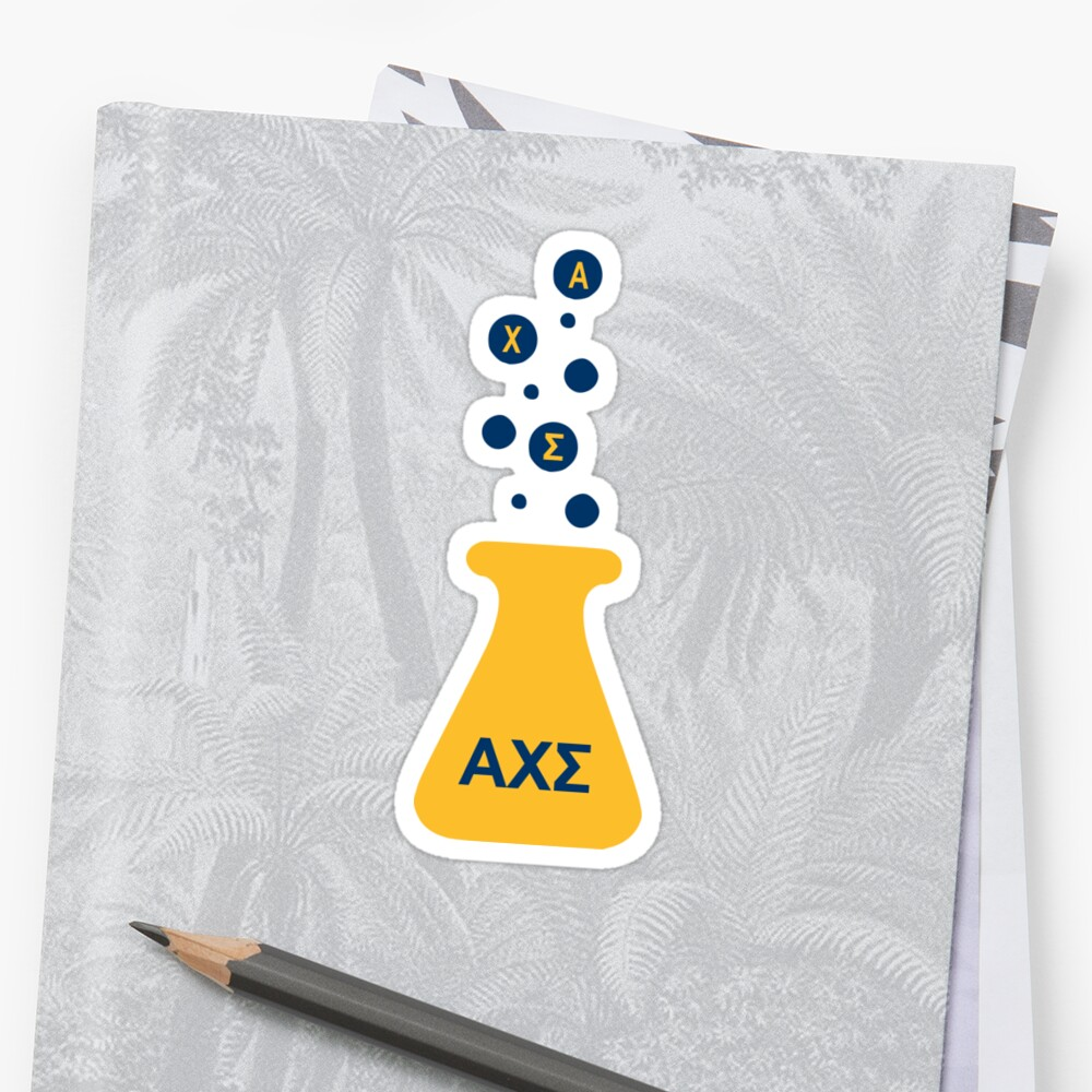 Alpha Chi Sigma bubble flask by saschultz