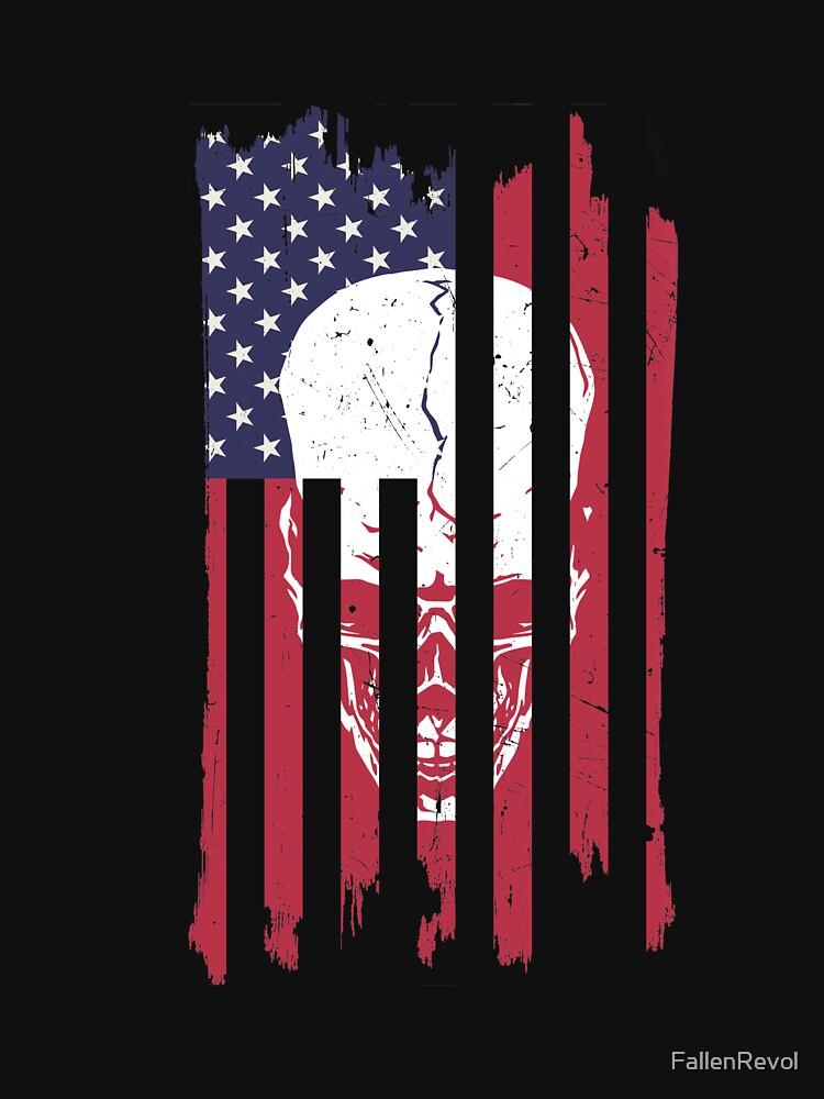 Skull In American Flag by FallenRevol