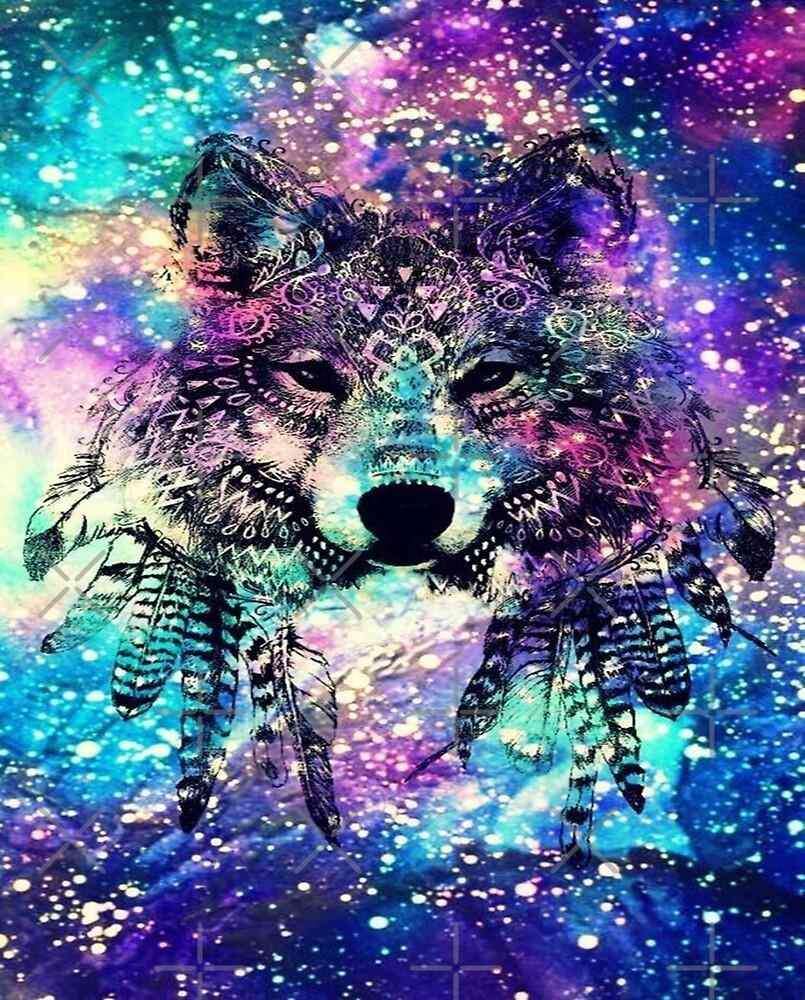 Wolf Galaxy by leen12