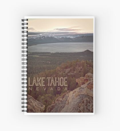 View of Lake Tahoe from Castle Rock Spiral Notebook