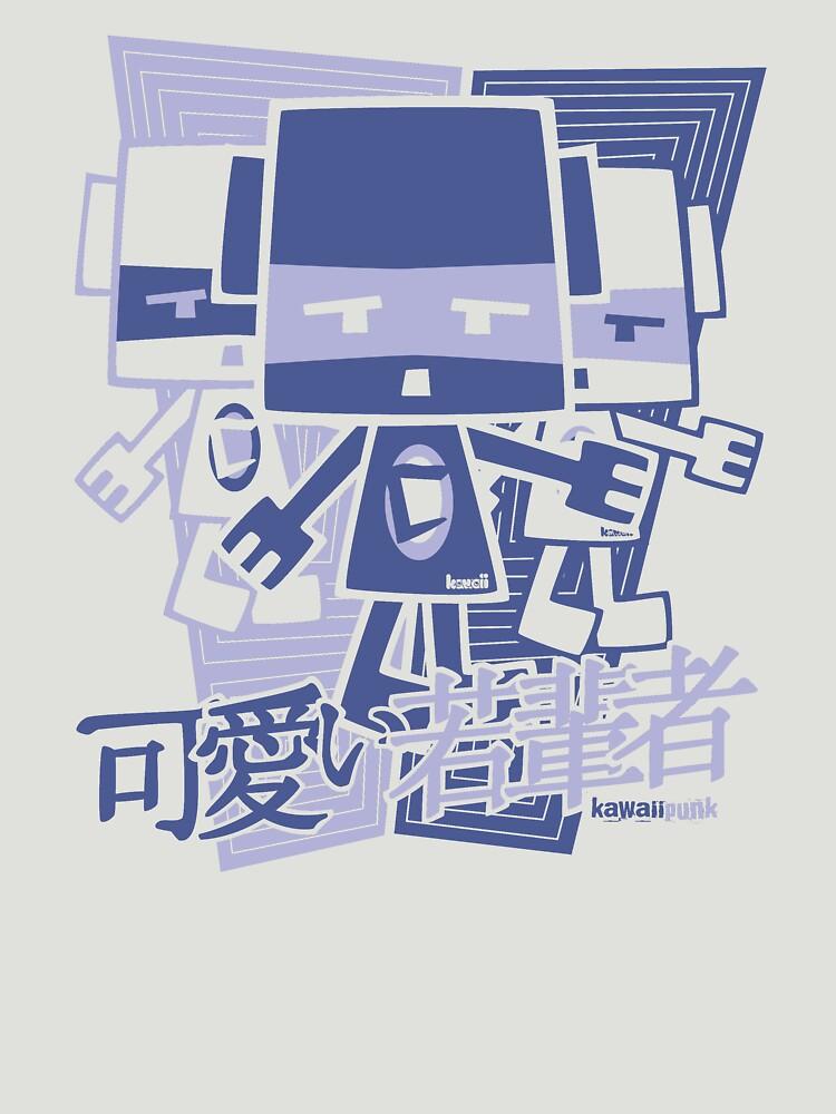 Cubist Mascot Stencil by KawaiiPunk