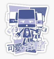Cubist Mascot Stencil Sticker