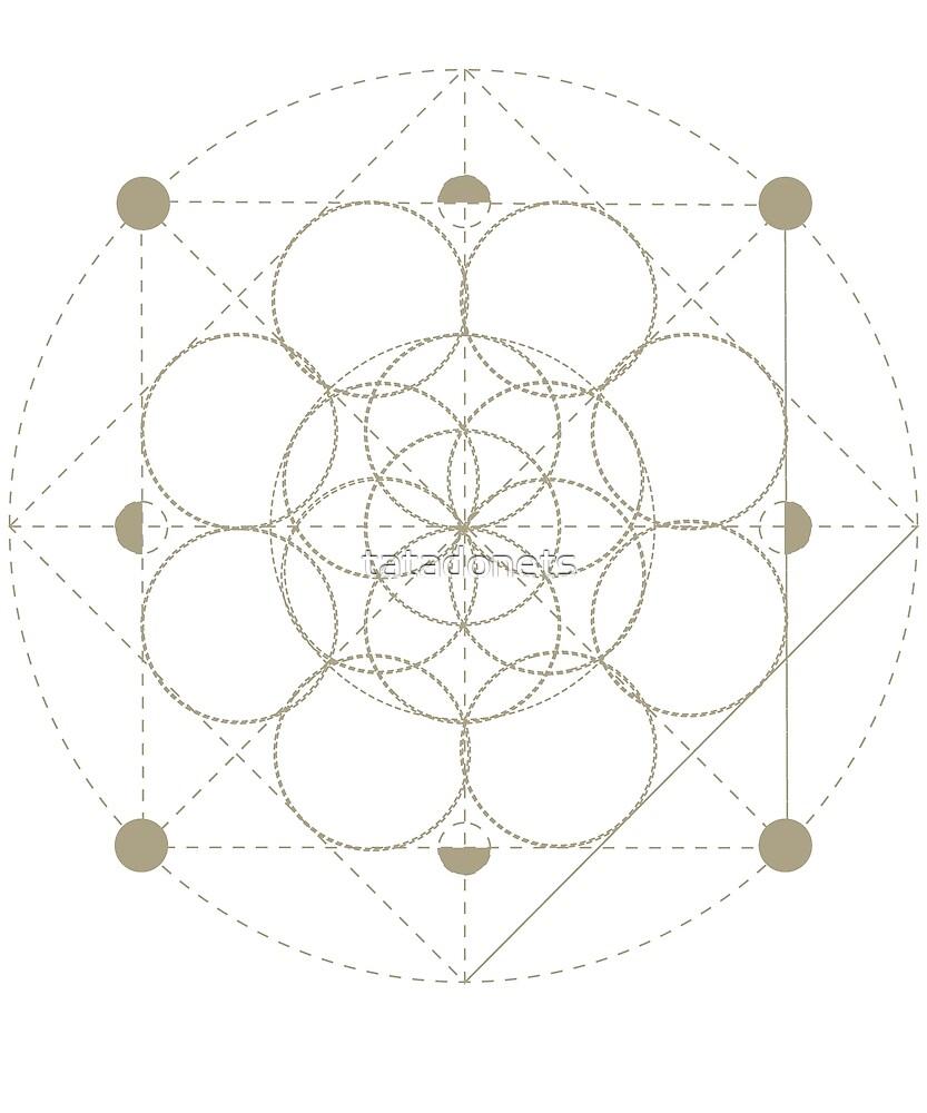 Sacred Geometry Seed of Life by tatadonets