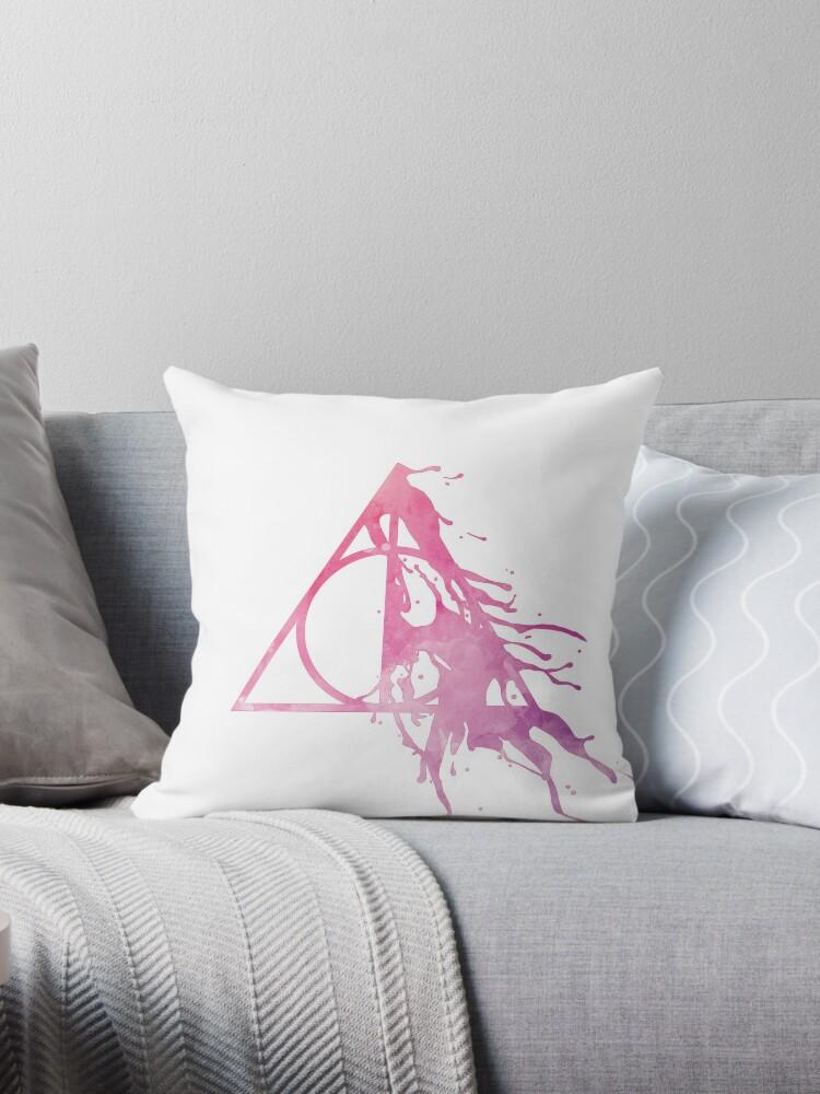 HP Hallows - half paint drops (pink watercolors) - wand, cloak, stone by Vane22april