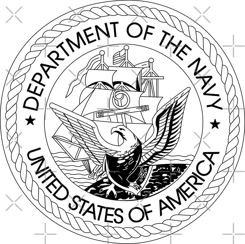 Department Of The Navy Crest By Xorbah Redbubble
