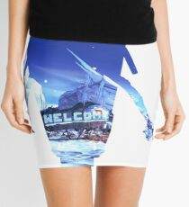 Claptrap Double Exposure  Mini Skirt