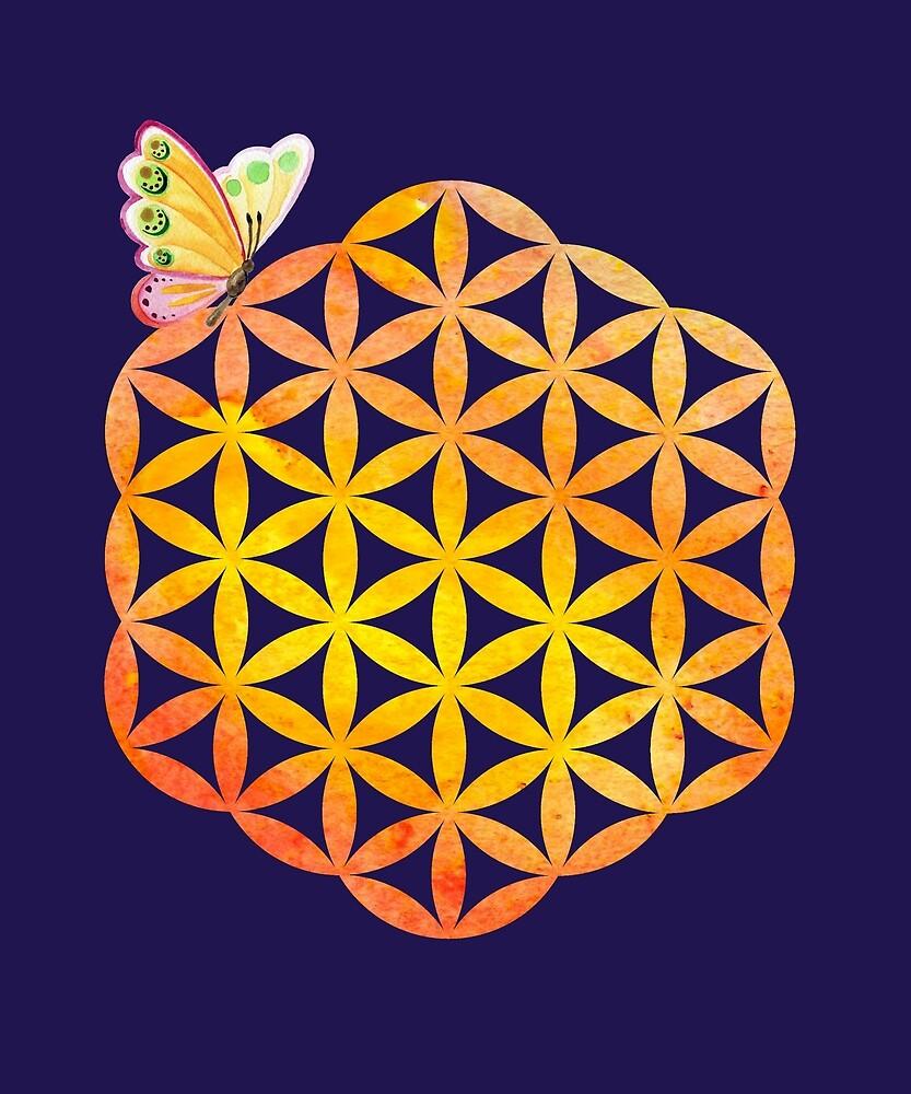 Flower of life, butterfly by Unelmoija
