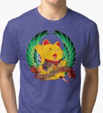 Yakuza Maneki Neko Tri-blend T-Shirt